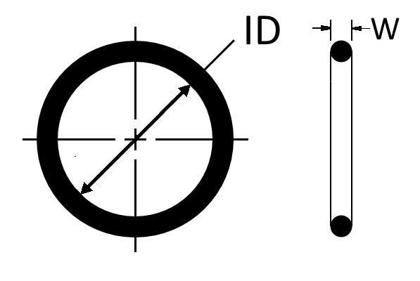 O-Ring, AS568, 2-XXX, HNBR, HSN