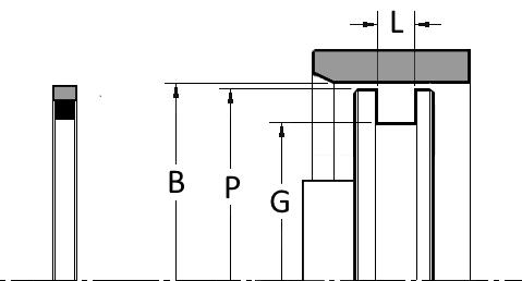Piston Seal PTFE, R Series, Rectangle