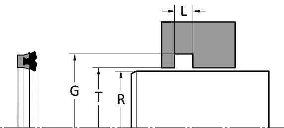 Deep Z Dual Lip Rod Seal Gland